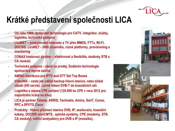 Krátké představení společnosti LICA