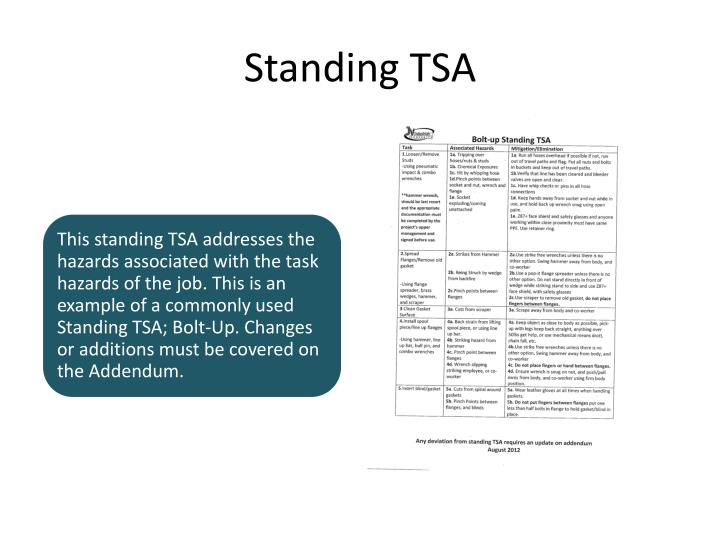 Standing TSA
