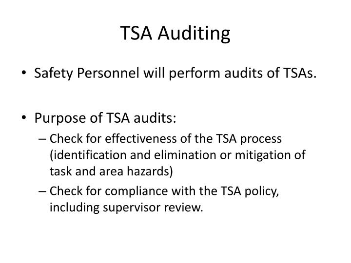 TSA Auditing