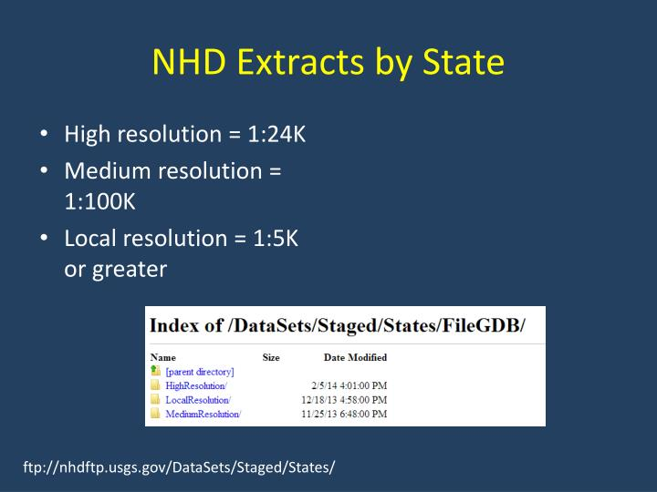 NHD Extracts by State