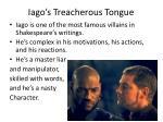 iago s treacherous tongue