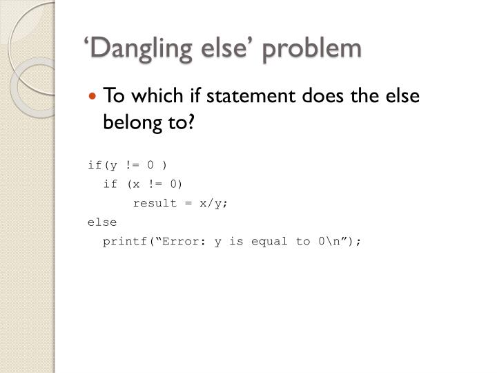 'Dangling else' problem