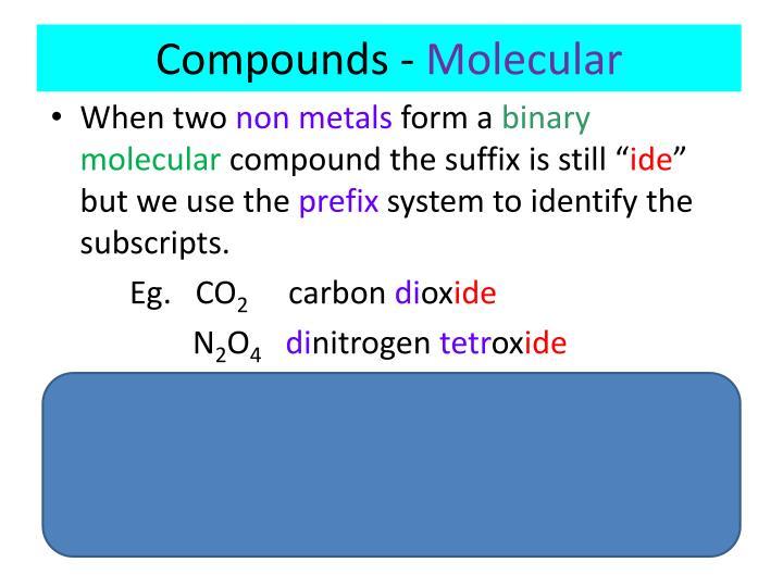 Compounds -