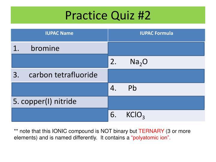 Practice Quiz #2