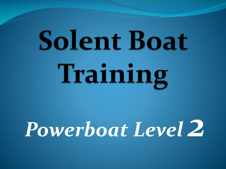 solent boat training