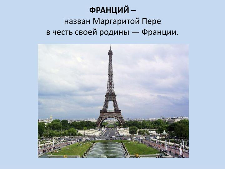 ФРАНЦИЙ –
