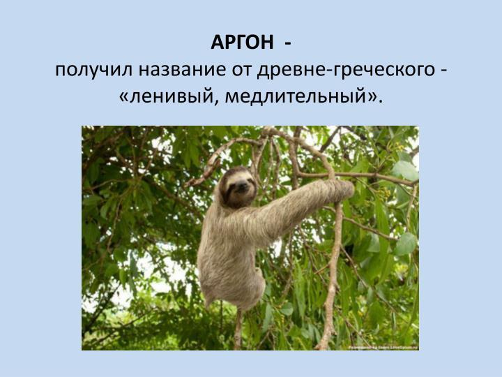 АРГОН  -
