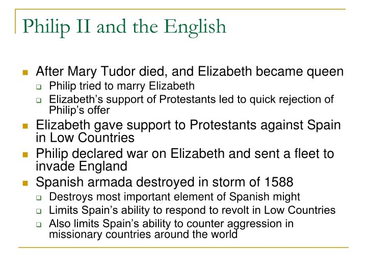 Philip II and the English