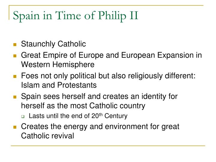 Spain in Time of Philip II