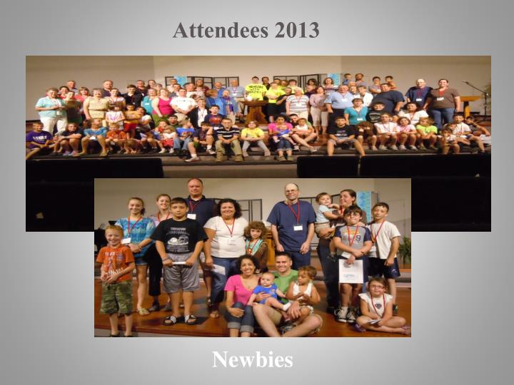 Attendees 2013
