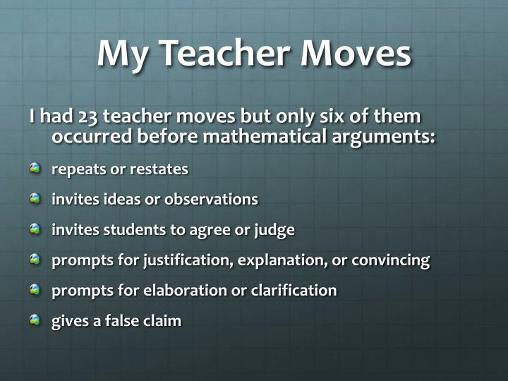 My Teacher Moves