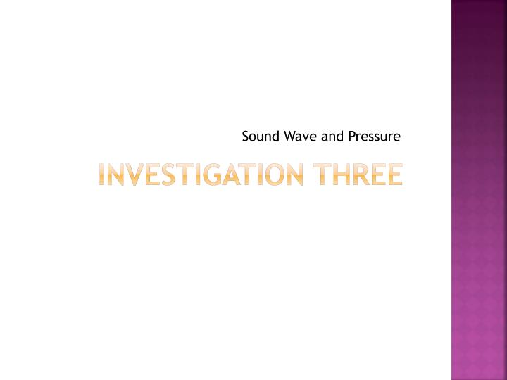 Sound Wave and Pressure