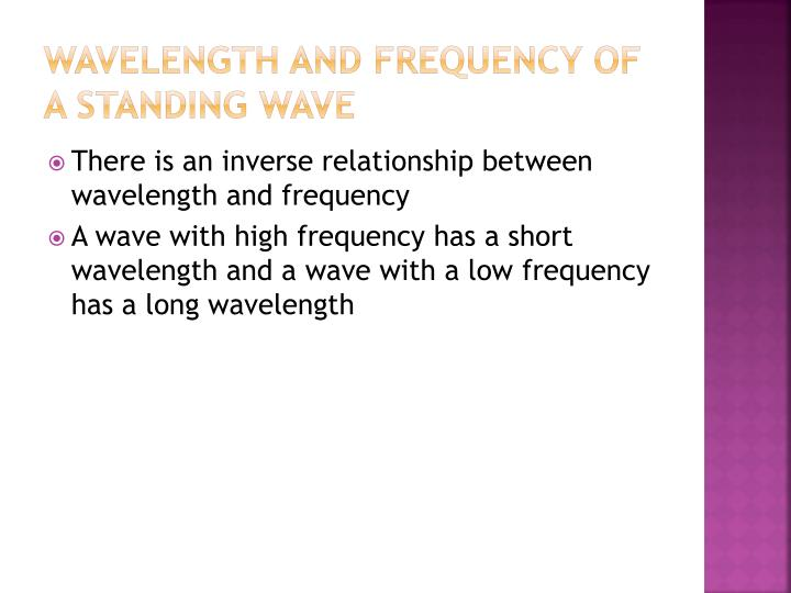 Wavelength and Frequency of a Standing wave