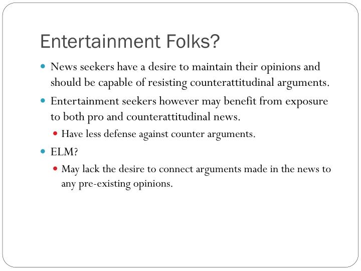 Entertainment Folks?