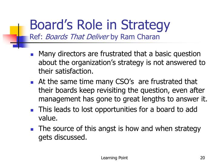 Board's Role in Strategy