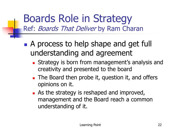 Boards Role in Strategy