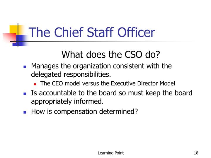 The Chief Staff Officer