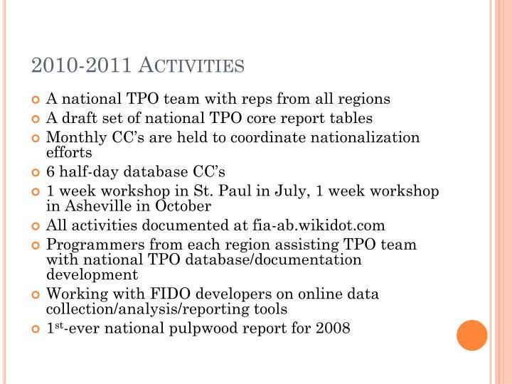 2010-2011 Activities