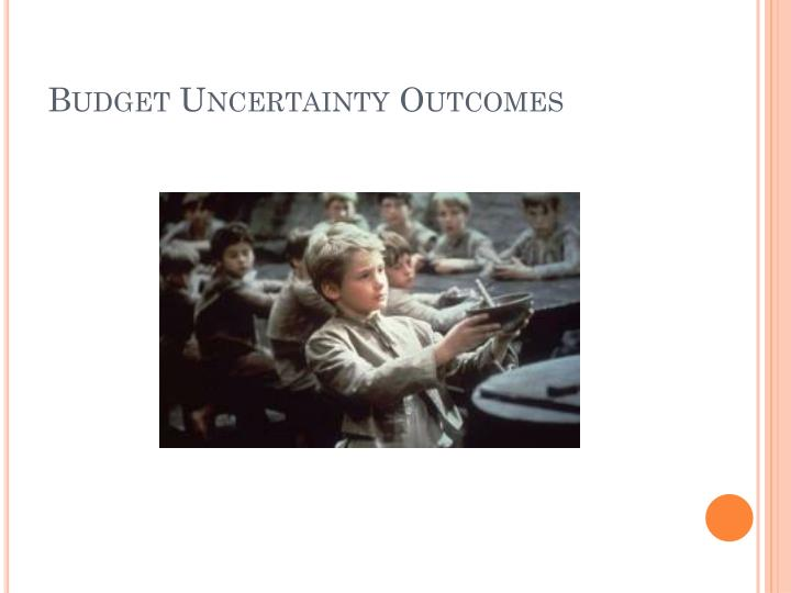Budget Uncertainty Outcomes