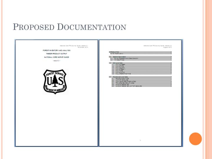 Proposed Documentation