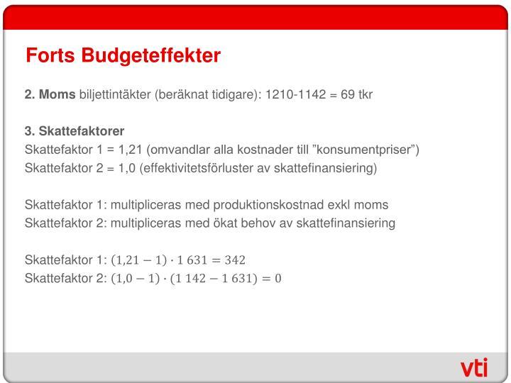 Forts Budgeteffekter