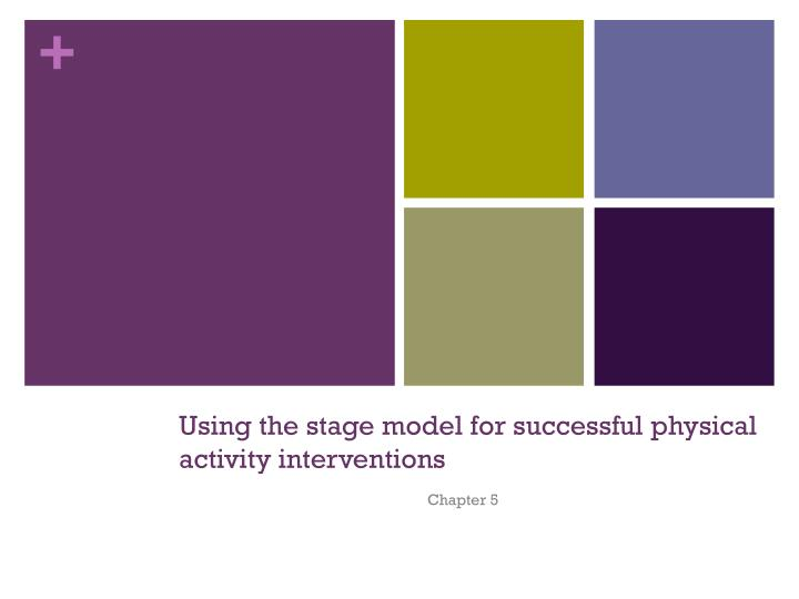 Using the stage model for successful physical activity interventions