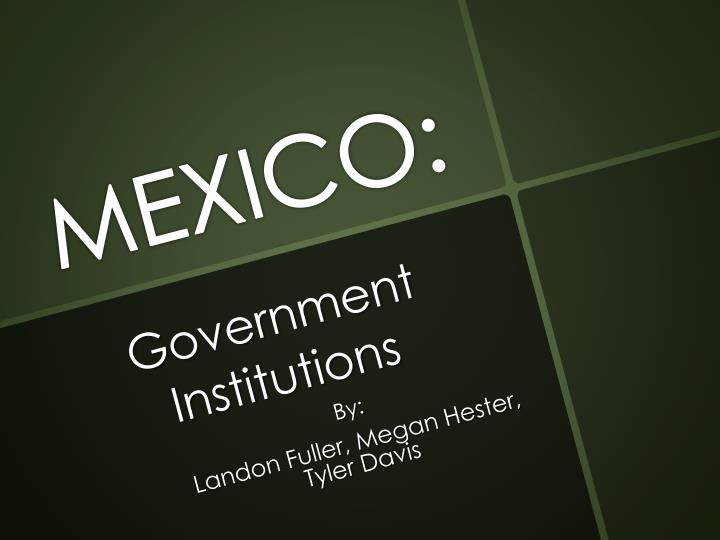 Government institutions