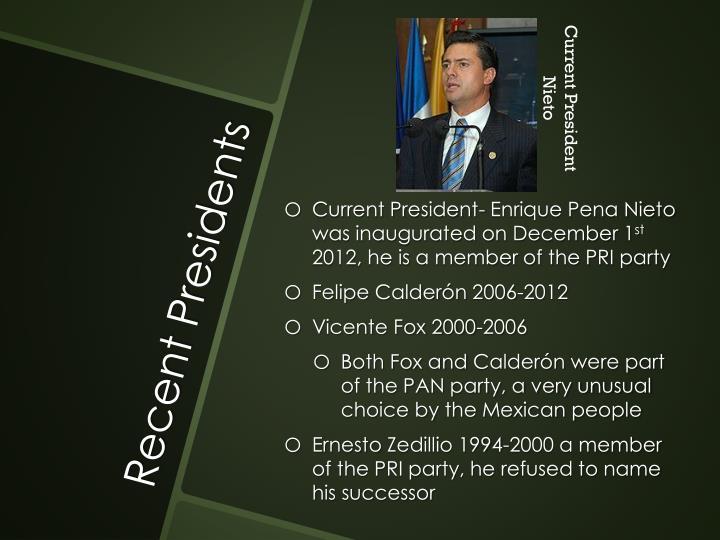 Current President Nieto