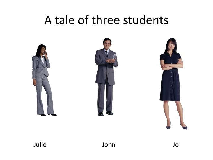 A tale of three students