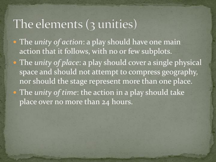 The elements (3 unities)
