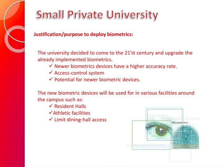 Small Private University