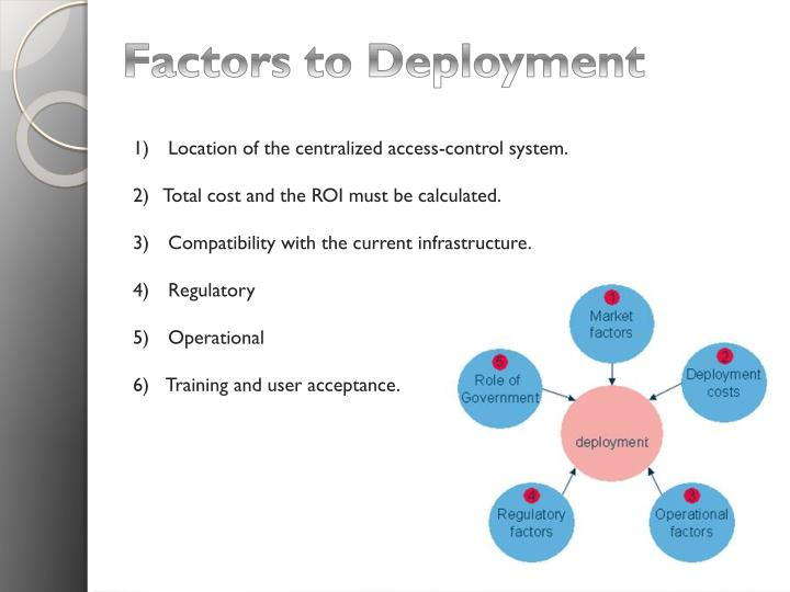 Factors to Deployment