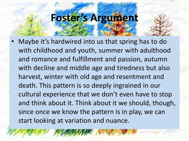 Foster's Argument