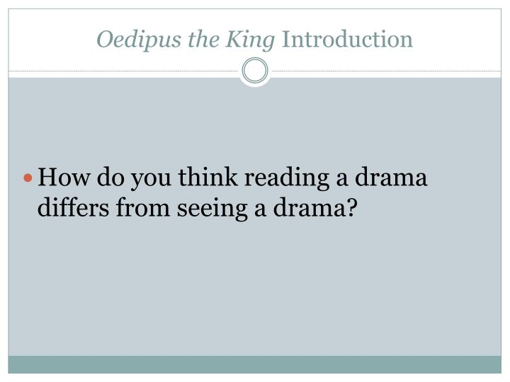 oedipus the king essay thesis