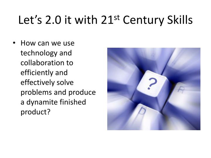 Let's 2.0 it with 21