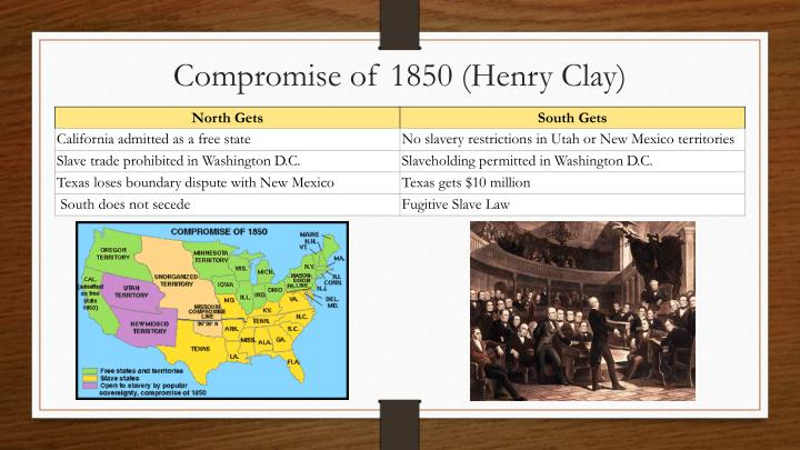 Compromise of 1850 (Henry Clay)