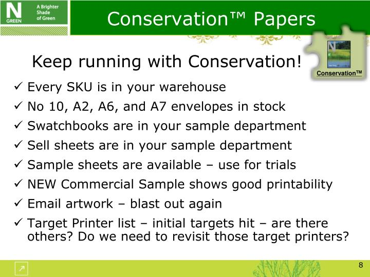 Conservation™ Papers