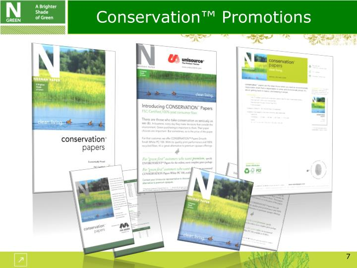 Conservation™ Promotions