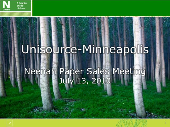 Unisource minneapolis neenah paper sales meeting july 13 2010