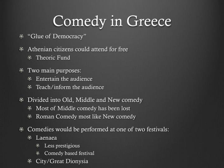 Comedy in greece