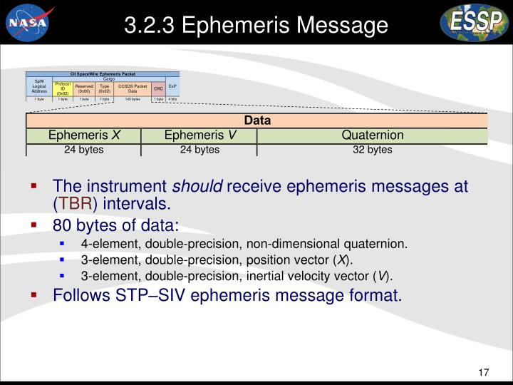 3.2.3 Ephemeris Message
