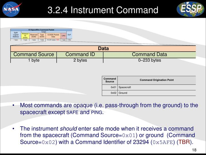 3.2.4 Instrument Command