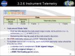 3 2 6 instrument telemetry