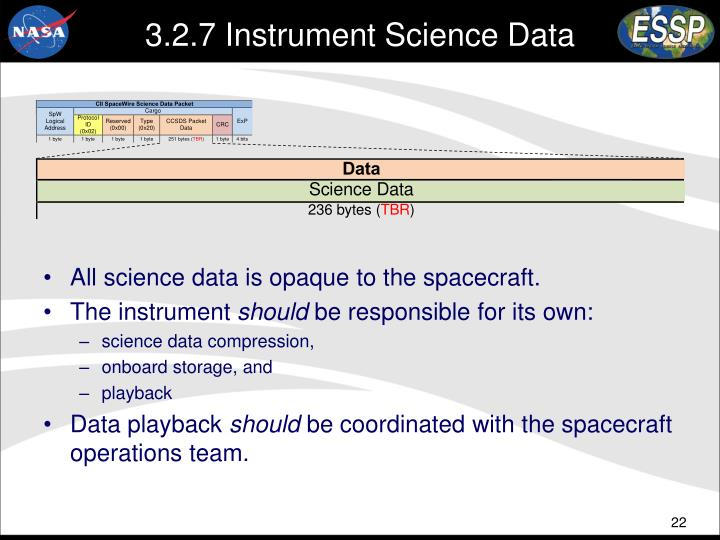 3.2.7 Instrument Science Data