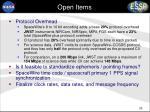 open items