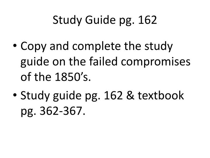 Study Guide pg. 162