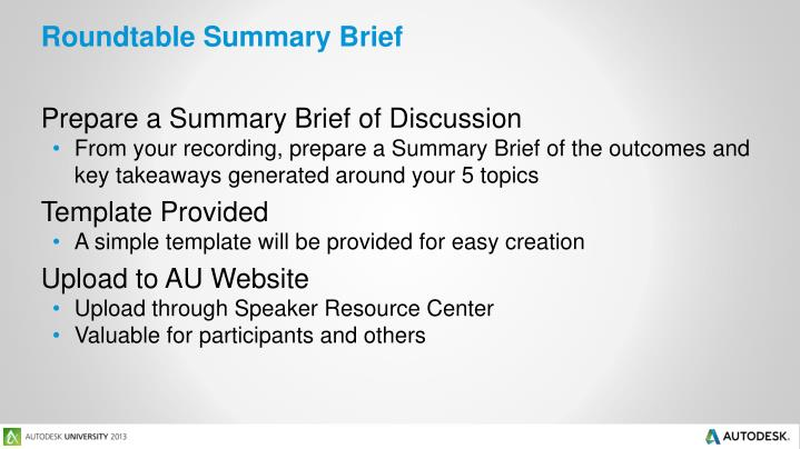 Roundtable Summary Brief