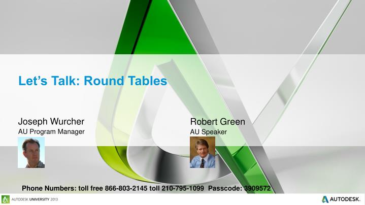 Let's Talk: Round Tables