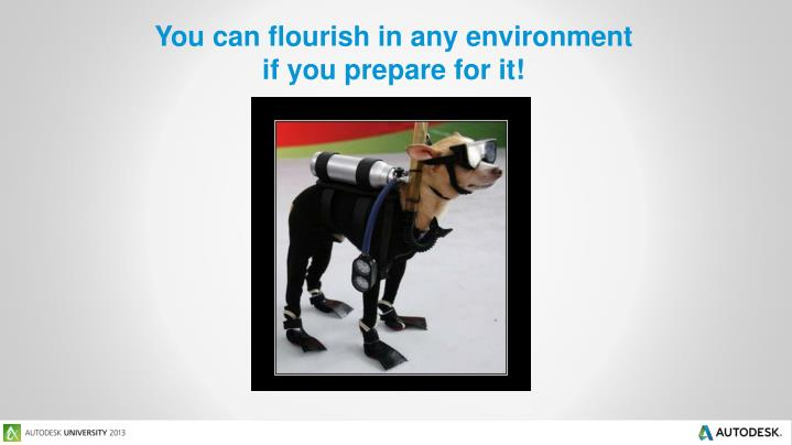 You can flourish in any environment