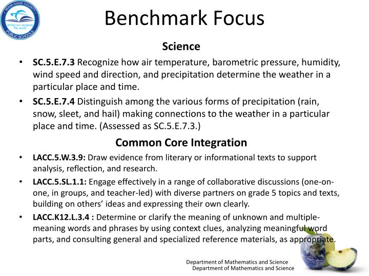 Benchmark Focus